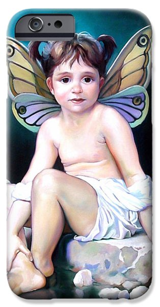 Fairies Paintings iPhone Cases - The Faerie Princess iPhone Case by Patrick Anthony Pierson