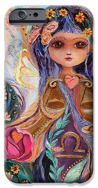Good Luck iPhone Cases - The Fairies of Zodiac series - Libra iPhone Case by Elena Kotliarker
