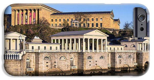 Interpretive iPhone Cases - The Fairmount Water Works and Art Museum iPhone Case by John Greim
