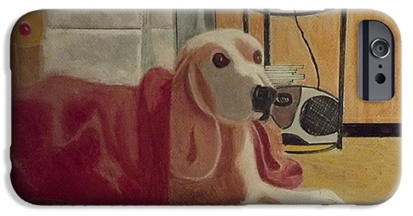 Dogs iPhone Cases - The Family Dog  iPhone Case by Stephan  Rowland