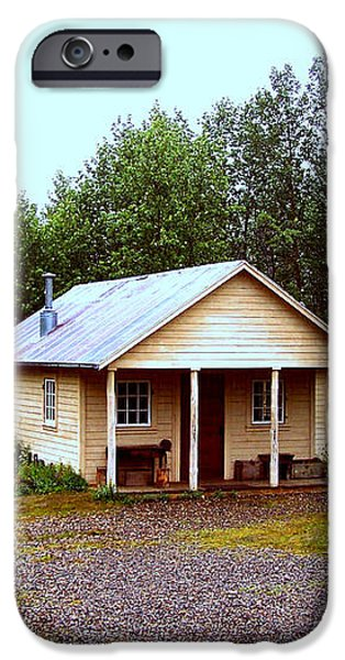 The Famous Cabin of Fannie Quigley iPhone Case by Kathy  White
