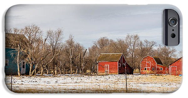Old Barn iPhone Cases - The Farm Yard iPhone Case by Chad Rowe