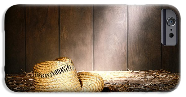 Straw iPhone Cases - The Farmer Hat iPhone Case by Olivier Le Queinec