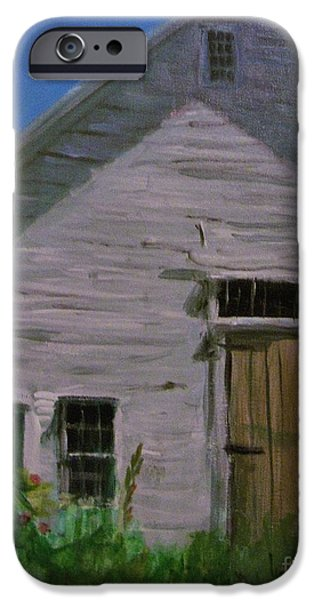 Maine Farms Paintings iPhone Cases - The Farn iPhone Case by Laura Webb