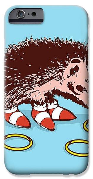The Fastest Hedgehog iPhone Case by Budi Satria Kwan