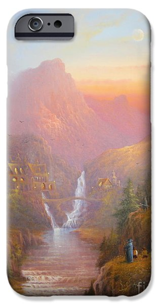 Earth Paintings iPhone Cases - The Fellowship Of The Ring iPhone Case by Joe  Gilronan