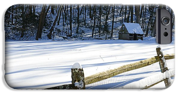 Grist Mill iPhone Cases - The Fence Line iPhone Case by Paul Ward