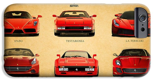Ferrari Gto iPhone Cases - The Ferrari Collection iPhone Case by Mark Rogan