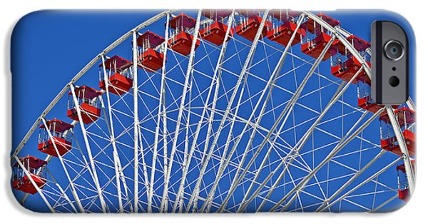 Interior Scene iPhone Cases - The Ferris Wheel Chicago iPhone Case by Christine Till