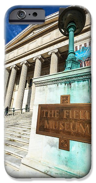 Natural History iPhone Cases - The Field Museum Sign in Chicago iPhone Case by Paul Velgos