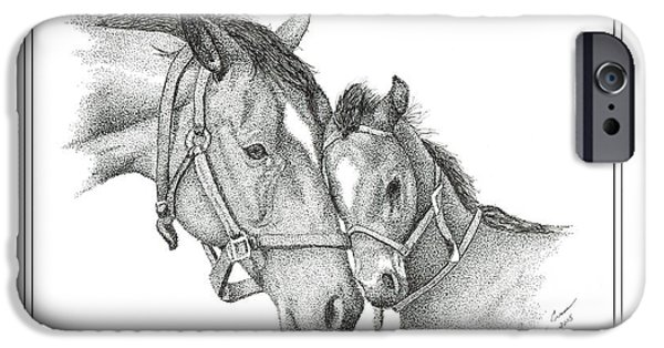 Kentucky Derby Drawings iPhone Cases - The Filly iPhone Case by Tanya Crum