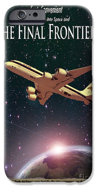 Airlines iPhone Cases - The Final Frontier iPhone Case by Juli Scalzi