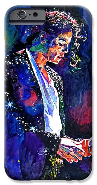 King iPhone Cases - The Final Performance - Michael Jackson iPhone Case by David Lloyd Glover