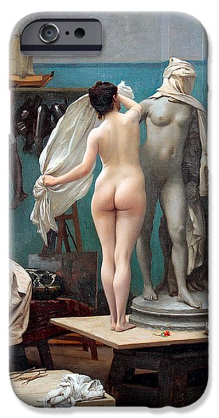 Gerome iPhone Cases - The final session iPhone Case by Jean-Leon Gerome