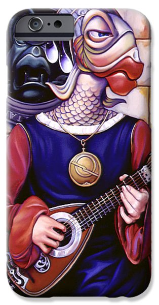 Lute Paintings iPhone Cases - The Finstrel iPhone Case by Patrick Anthony Pierson