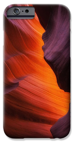 Sandstone iPhone Cases - The Fire Within iPhone Case by Darren  White