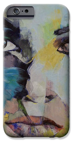 The Blue Face iPhone Cases - The Firebird iPhone Case by Michael Creese