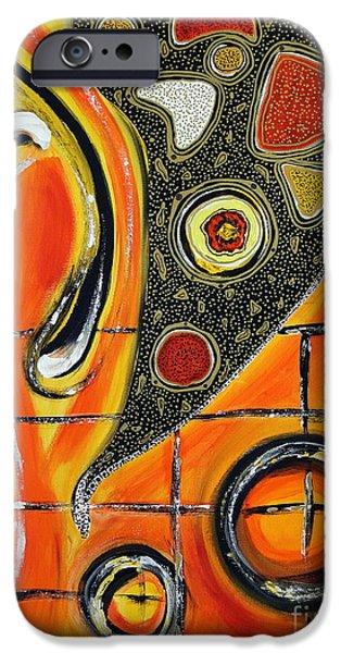 Abstract Expressionism iPhone Cases - The Fires of Charged Emotions iPhone Case by Jolanta Anna Karolska
