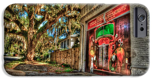 Small iPhone Cases - The Firestation iPhone Case by DeWayne Beard