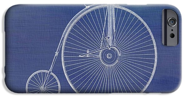 Transportation Mixed Media iPhone Cases - The First Bicycle Penny-farthing iPhone Case by Dan Sproul