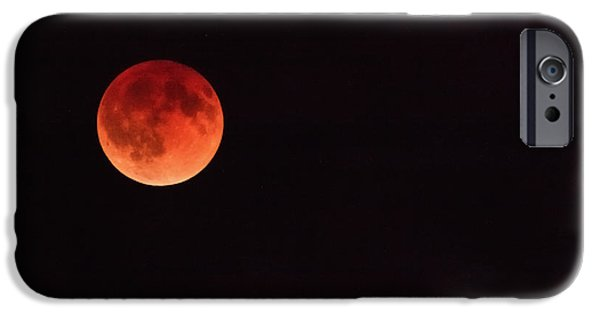 Stellar iPhone Cases - The First Blood Moon of the Tetrad iPhone Case by Rick Furmanek