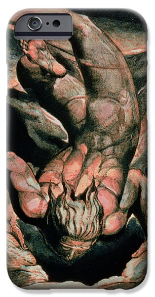 Muscle Paintings iPhone Cases - The First Book of Urizen iPhone Case by William Blake
