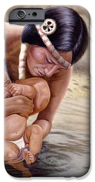 Women Together iPhone Cases - The First Dip iPhone Case by Gregory Perillo
