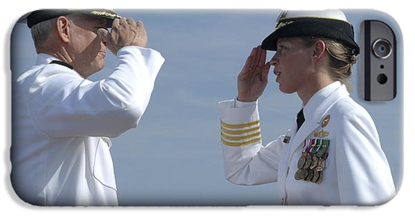 Face Recognition iPhone Cases - The First Female Commanding Officer iPhone Case by Stocktrek Images