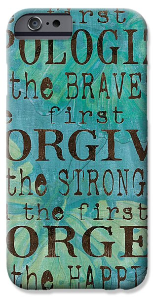 Inspirational iPhone Cases - The First to Apologize iPhone Case by Debbie DeWitt