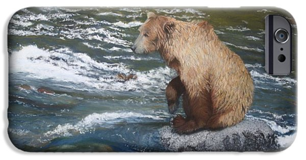 Creek Pastels iPhone Cases - The Fisherman iPhone Case by Laurie Cartwright