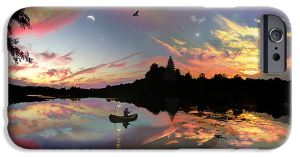 Rucker iPhone Cases - The Fisherman iPhone Case by Michael Rucker