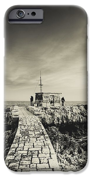 Sea Platform iPhone Cases - The Fishermens Hut iPhone Case by Marco Oliveira
