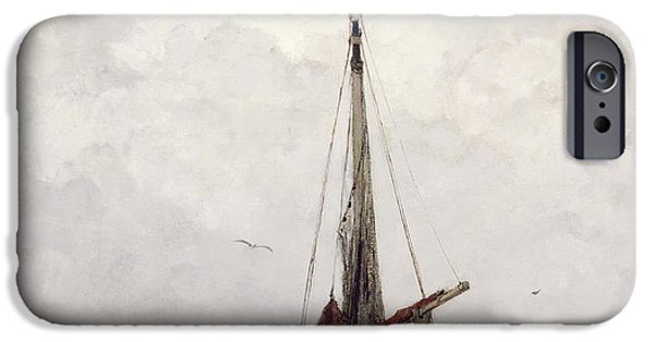 Boat iPhone Cases - The Fishing Boat iPhone Case by Jacob H Maris