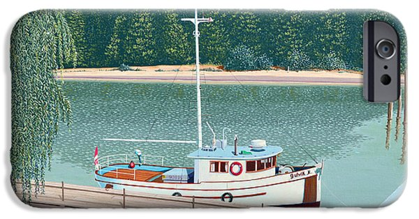 Trawler iPhone Cases - The converted fishing trawler Gulvik iPhone Case by Gary Giacomelli