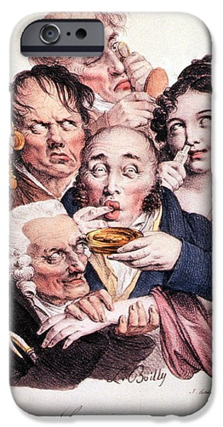 Caricature Artist iPhone Cases - The Five Senses iPhone Case by Science Source