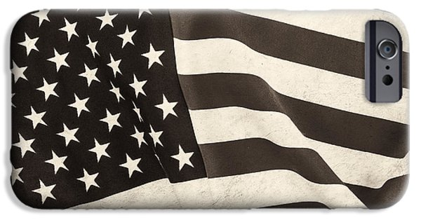 Old Glory iPhone Cases - The Flag BW iPhone Case by Martin Bergsma