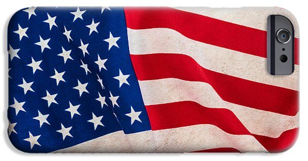 Old Glory iPhone Cases - The Flag iPhone Case by Martin Bergsma