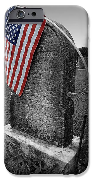 American Flag iPhone Cases - The Flag iPhone Case by Richard Reeve