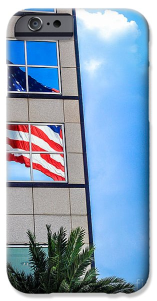 The Flag that Never Hides iPhone Case by Rene Triay Photography