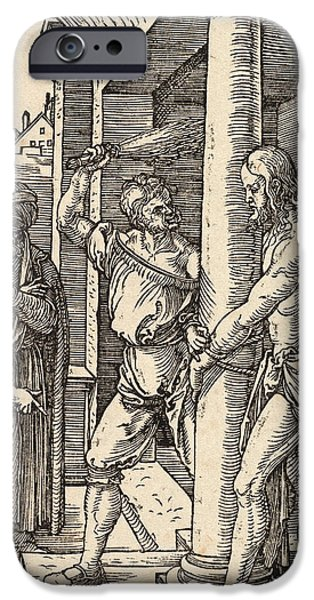Best Sellers -  - Son Of God Drawings iPhone Cases - The Flagellation iPhone Case by Albrecht Durer