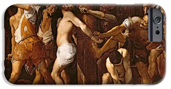 Jesus Photographs iPhone Cases - The Flagellation Of Christ, 1586-87 Oil On Canvas iPhone Case by Lodovico Carracci