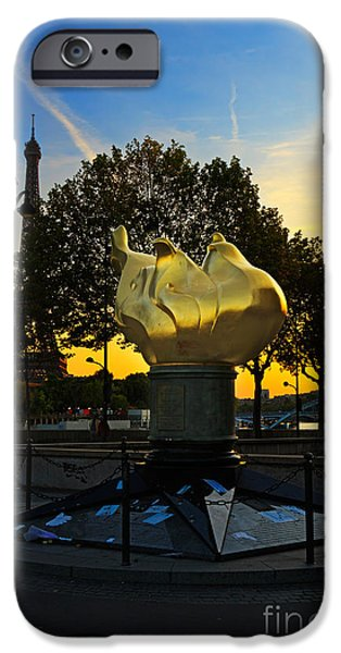 Princess Diana iPhone Cases - The Flame of Liberty in Paris iPhone Case by Louise Heusinkveld