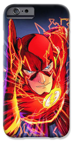 Thor iPhone Cases - The Flash iPhone Case by FHT Designs