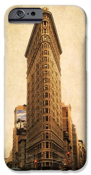 Building Digital Art iPhone Cases - The Flatiron Building iPhone Case by Jessica Jenney