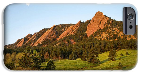 Front Range iPhone Cases - The Flatirons - Spring iPhone Case by Aaron Spong