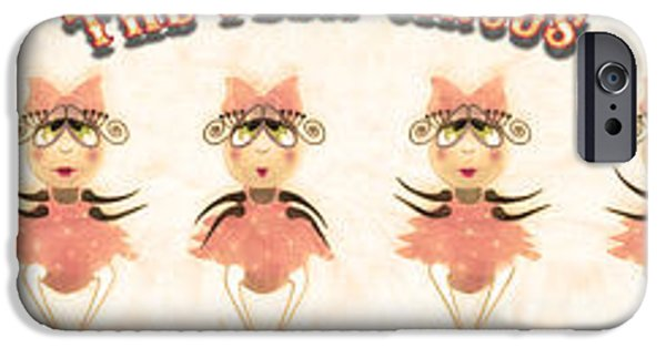 Ballet Dancers iPhone Cases - The Flea Circus - The Ballerinas Pannel white iPhone Case by Andrea Ribeiro