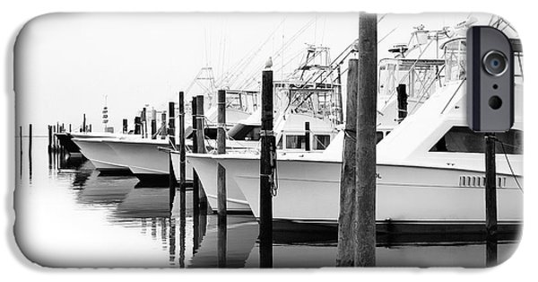 Pamlico Sound iPhone Cases - The Fleet Awaits - Outer Banks iPhone Case by Dan Carmichael