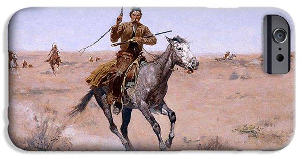 Frederic Remington iPhone Cases - The Flight iPhone Case by Frederic Remington