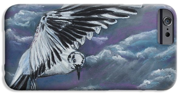 Fauna Pastels iPhone Cases - The Flight iPhone Case by Jeanne Fischer