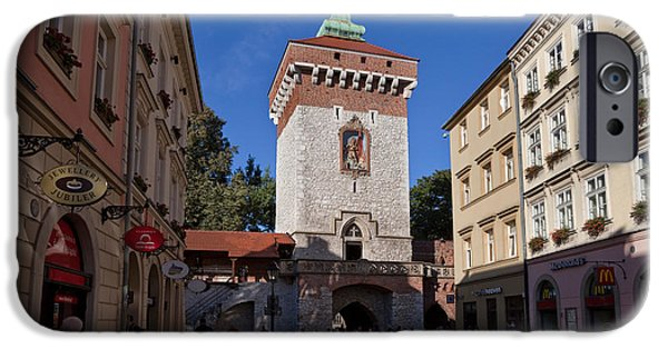 Enterprise Photographs iPhone Cases - The Florianska Gate, Krakow, Poland iPhone Case by Panoramic Images